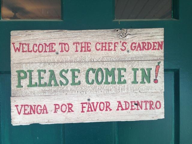 Chefs Garden Sign