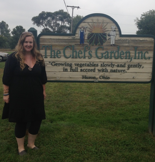Me, the non-Chef, wannabe Chef in front of the farm.
