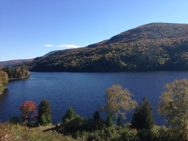 One of the many lakes on my drive through Maine.