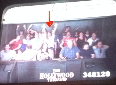 I managed to have some fun on the Tower of Terror at Hollywood Studios.