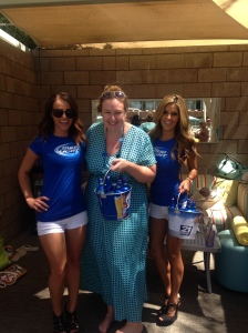 The Bud Light girls showered me with beer.