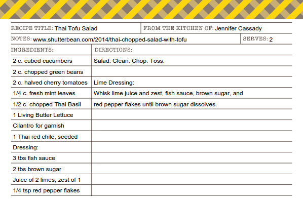 Thai Tofu Salad recipe